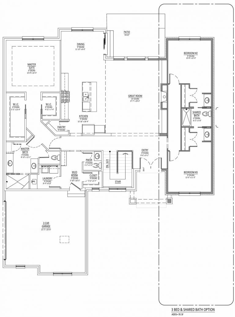 Main Level Option 1 Diagram