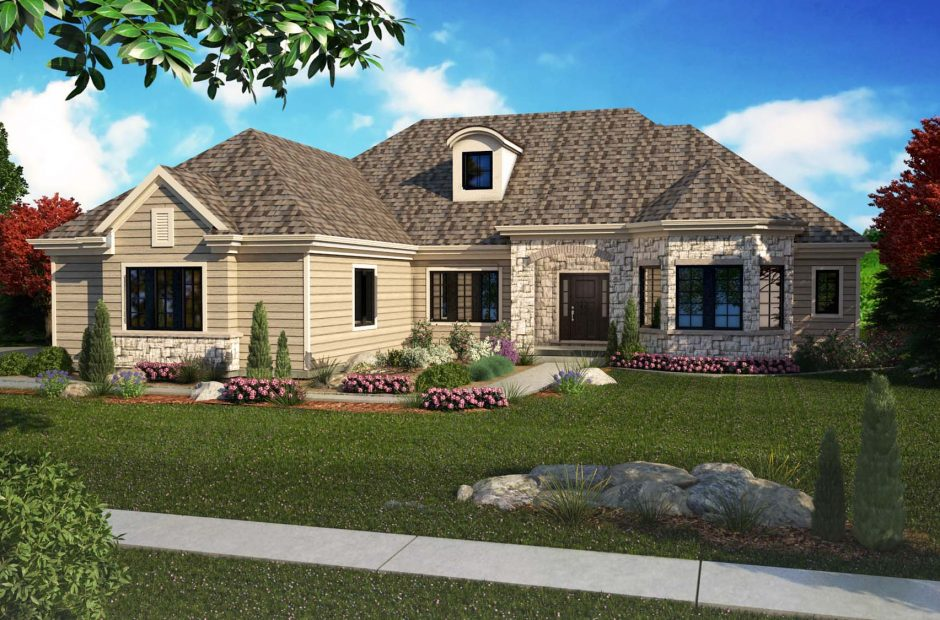 Heatherwood classic elevation rendering
