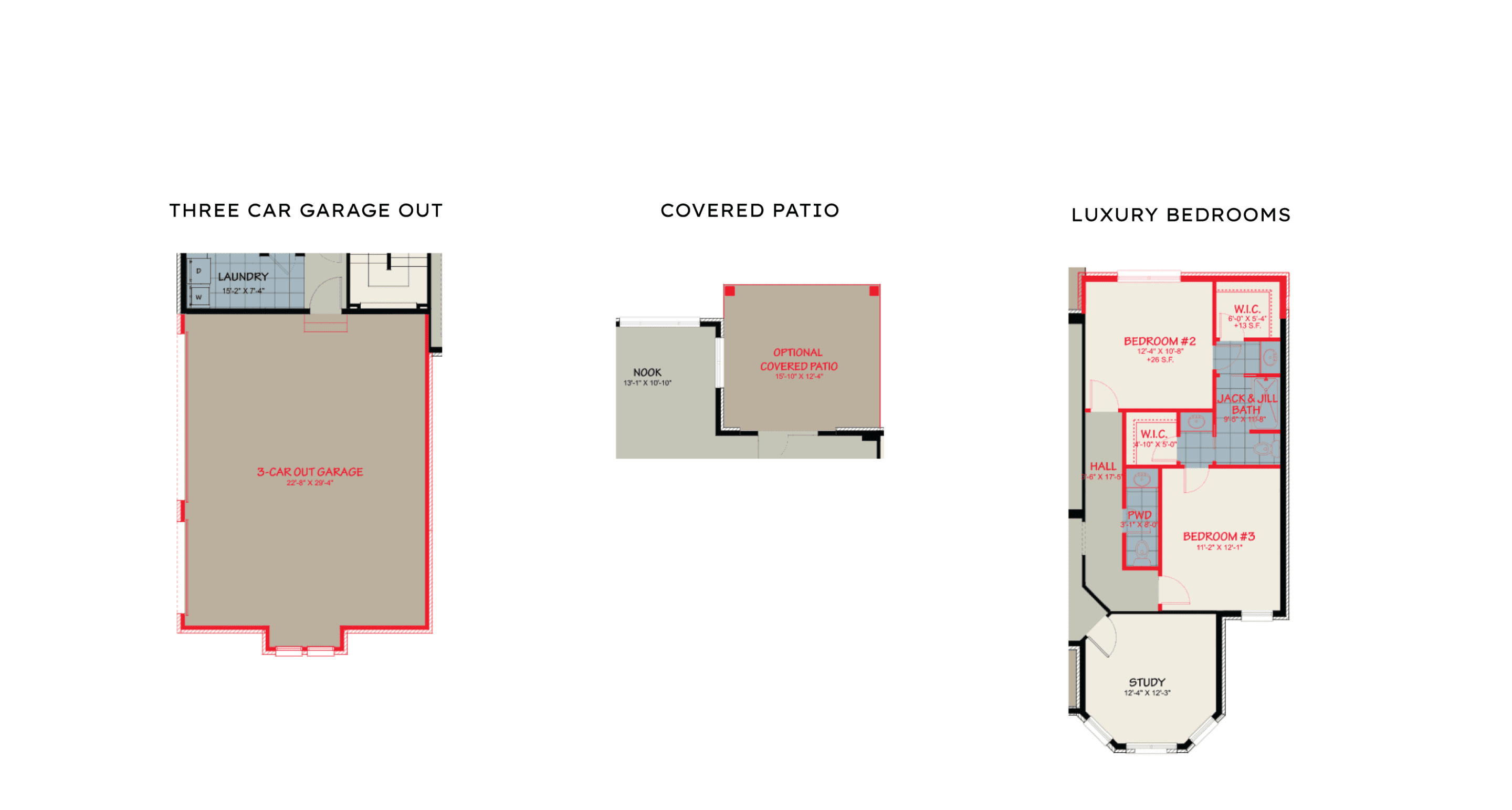 Heatherwood options for custom floor plan